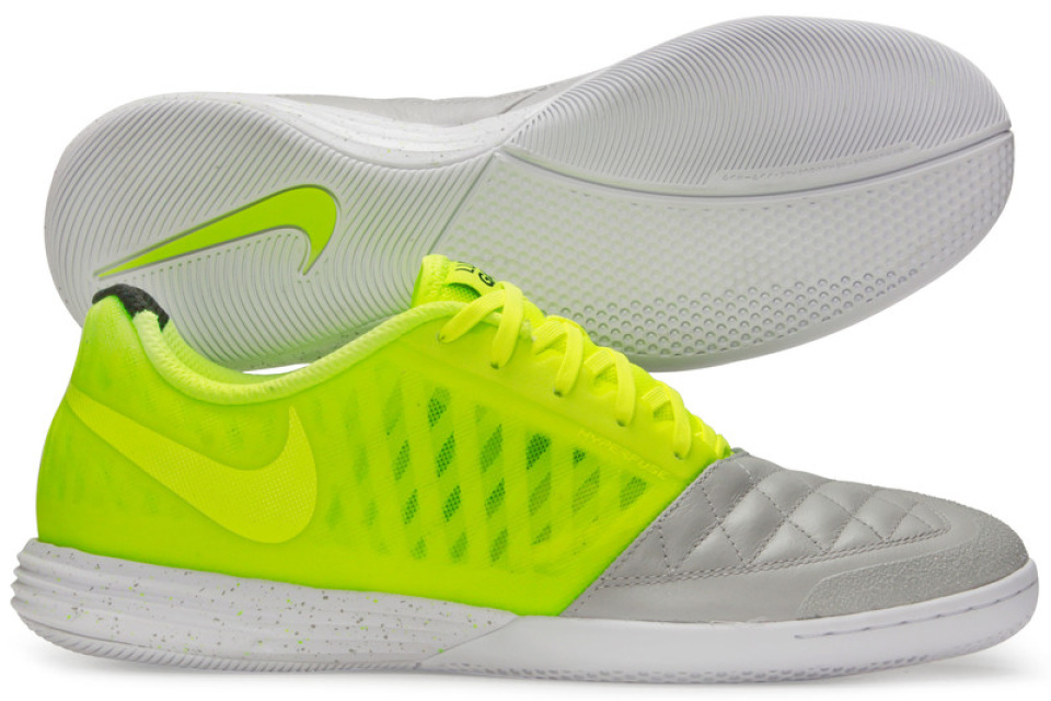 more photos b758a 6d7e6 Lunargato II Indoor Futsal Football Trainers Natural Grey Volt White
